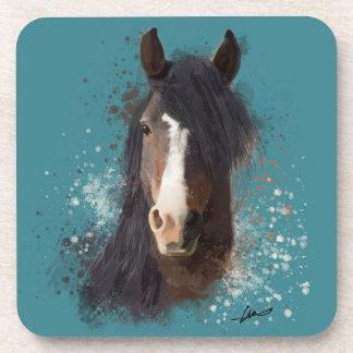 Black Horse Watercolour Coaster