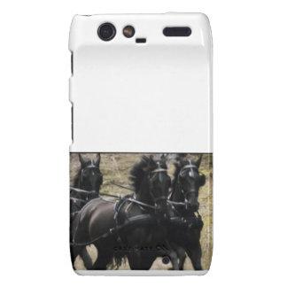 Black HORSES Motorola Droid RAZR Case