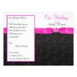 Black, Hot Pink, and White Wedding Program Full Colour Flyer