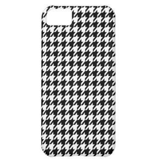 Black Houndstooth iPhone 5C Case