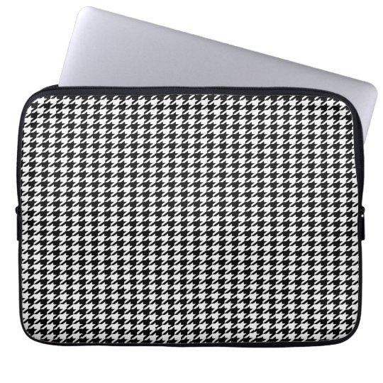 Black Houndstooth Laptop Sleeve