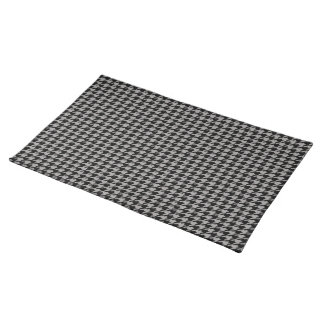 Black Houndstooth on Grey Placemat