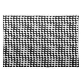 Black Houndstooth Placemat