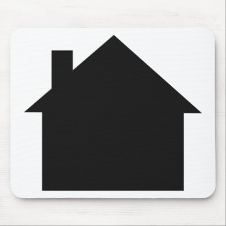 black house icon mouse pad