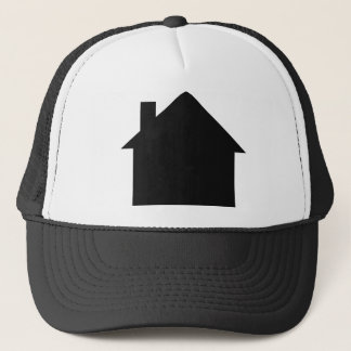 black house icon trucker hat