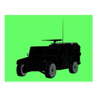 Black Hummer Postcard