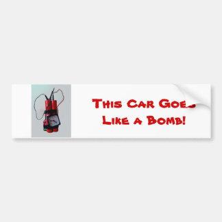 Black Humour - Mock Bomb Bumper Sticker