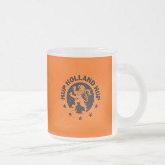 Black Hup Holland - Editable Background color Frosted Glass Mug