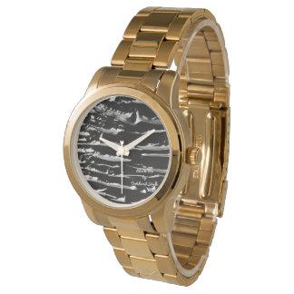 Black Ice Gold Bracelet Wrist Watch