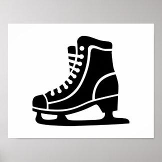 Black ice skate print
