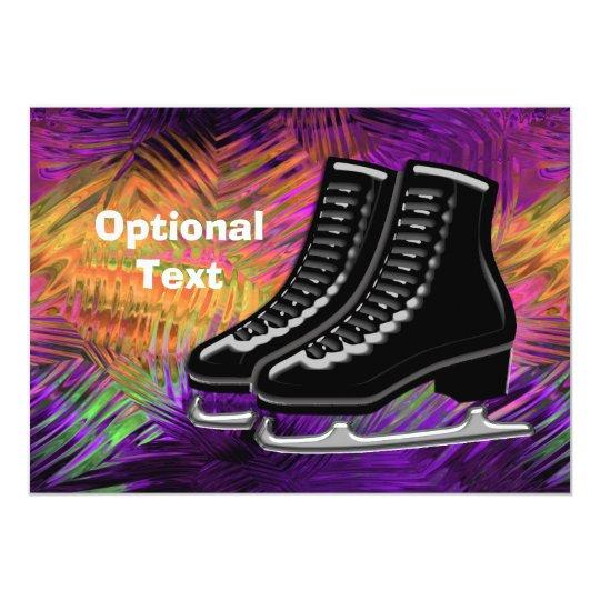 Black  Ice Skates & Technicolor - Customisable Card