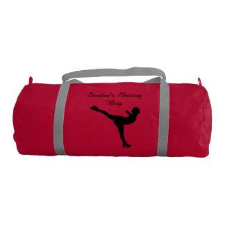 Black Ice Skating Duffel Bag Gym Duffel Bag