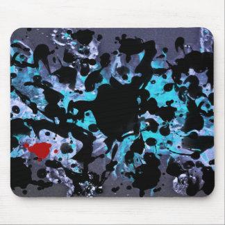 BLACK INK | blue splatter Mousepad