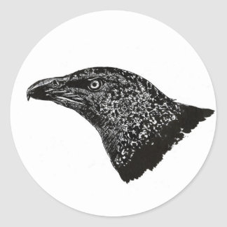 Black Ink Eagle Sticker