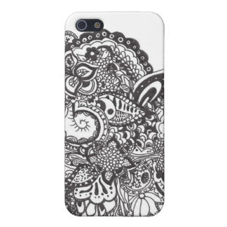 Black Ink Intricate Doodle Design iPhone 5/5S Cover