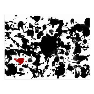 BLACK INK | make your own background Postcard