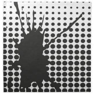 Black Ink Splat Napkins
