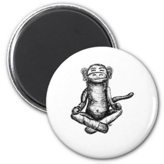 black ink zen monkey fridge magnets