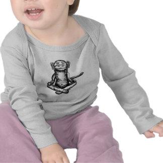 black ink zen monkey shirts