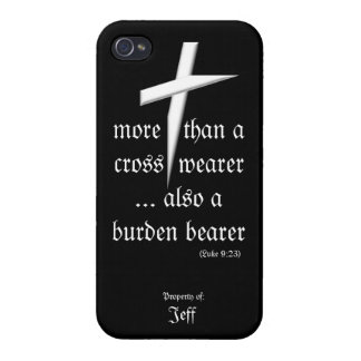 Black iPhone Case w/ Cross Covers For iPhone 4