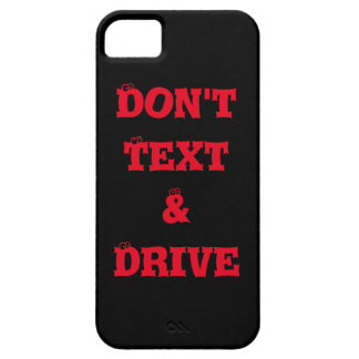 """BLACK IPHONE  IPAD  """"DO NOT TEXT & DRIVE"""" CASE iPhone 5 COVER"""
