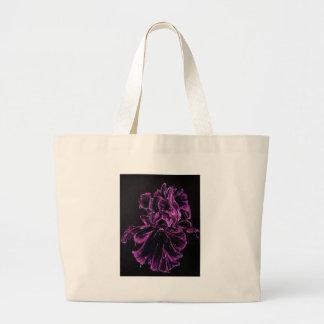Black Iris Large Tote Bag