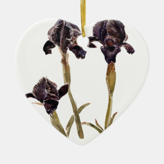 black iris of Jordan Christmas Ornament