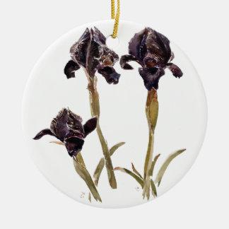 black iris of Jordan Christmas Ornament