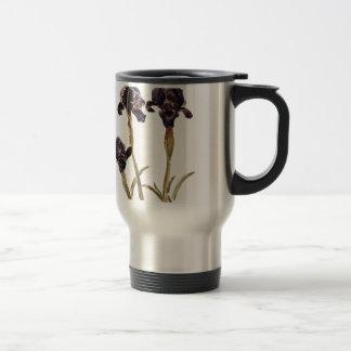 black iris of Jordan Travel Mug