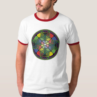 Black Iris Stained Glass Shirt