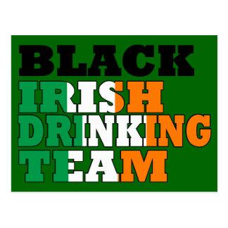 Black Irish drinking team Postcard