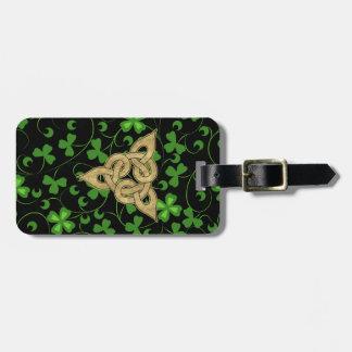 Black Irish Knotwork - Customize Luggage Tag
