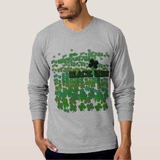Black Irish Tons of Shamrocks T-Shirt