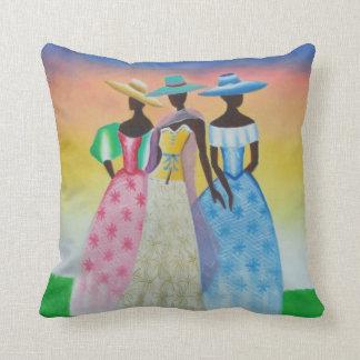 Black is Beautiful African Art Throw Pillow