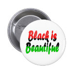 Black is Beautiful Pan-African Flag 6 Cm Round Badge