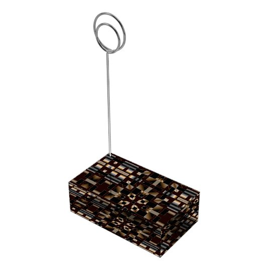 Black Ivory Brown Deco Mosaic Table Card Holders