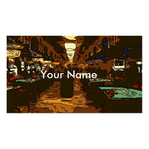 Black Jack and Poker Tables in Las Vegas Business Card Template