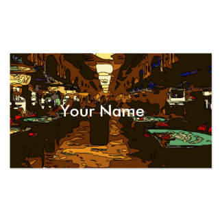 Black Jack and Poker Tables in Las Vegas Pack Of Standard Business Cards