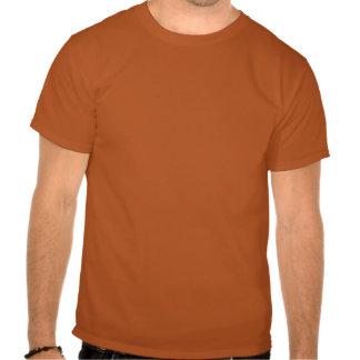 Black Jack-O-Lantern Pumpkin Outline on Orange Tshirt