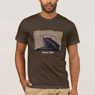 Black Jaguar Big Cat Wildlife-support Art T-Shirt