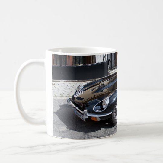 Black Jaguar E Type Coffee Mug