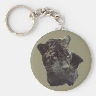 Black Jaguar Key Ring
