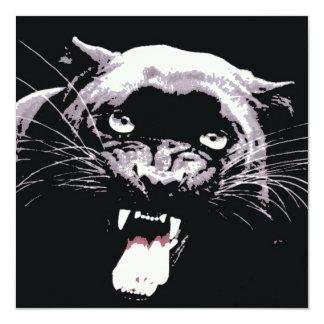 Black Jaguar Panther Invitation