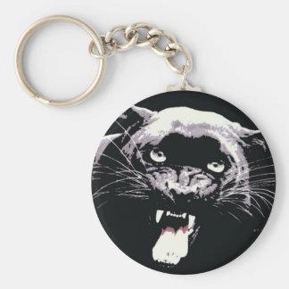 Black Jaguar Panther Key Ring
