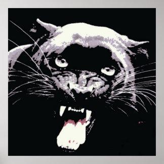 Black Jaguar Panther Poster