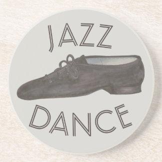 Black Jazz Dance Shoe Teacher Choreographer Coaster