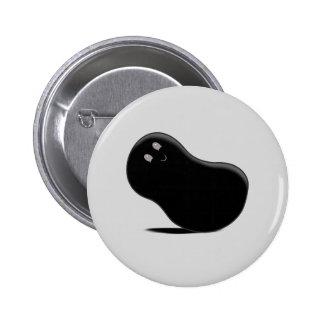 Black Jellybean Button