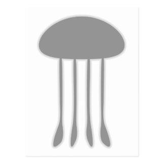 Black Jellyfish Post Card