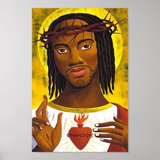 Black Jesus Portrait Posters