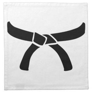 Black judo belt napkin